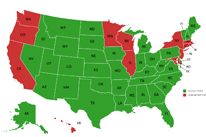 US Florida CWP Concealed weapons License Map